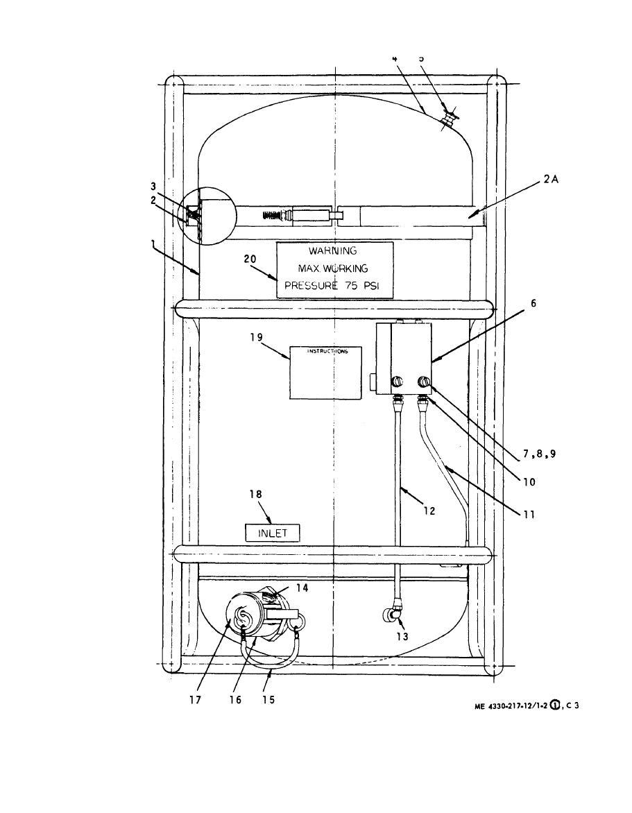 figure 1-2  liquid filter separator  sheet 1 of 2